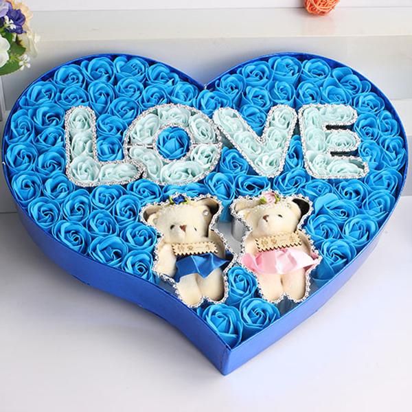 Hộp quà trái tim 2 gấu bông và hoa hồng sáp 99 bông - 1175380 , 4111984856074 , 62_7546245 , 659000 , Hop-qua-trai-tim-2-gau-bong-va-hoa-hong-sap-99-bong-62_7546245 , tiki.vn , Hộp quà trái tim 2 gấu bông và hoa hồng sáp 99 bông
