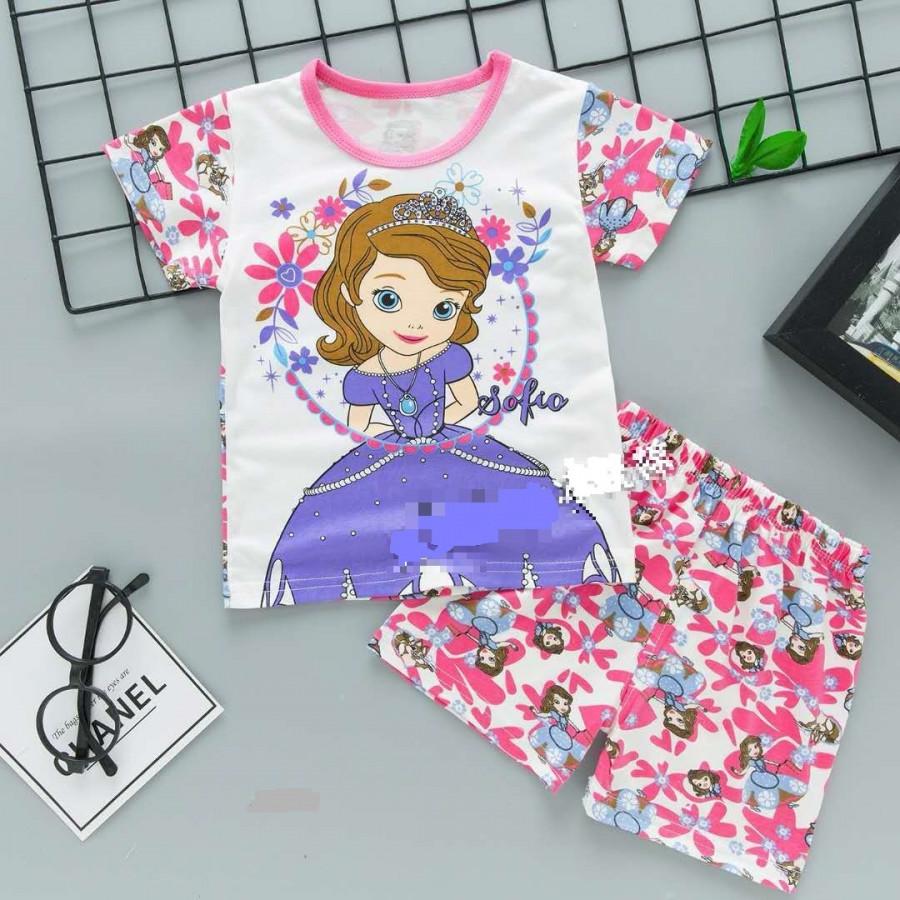 Bộ quần áo hoạt hình nhiều mẫu cho bé gái (mẫu 3)