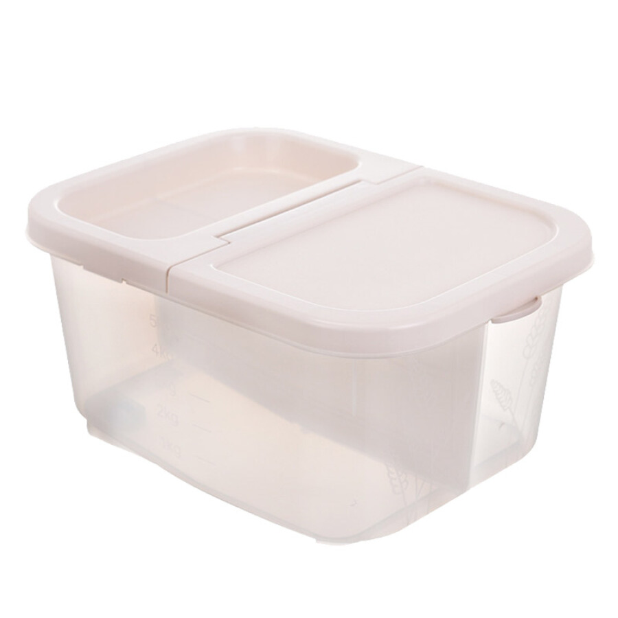 All-in-one household transparent cover type rice box rice barrel 10 kg kitchen flour barrel anti-humidity insect-proof rice cylinder...