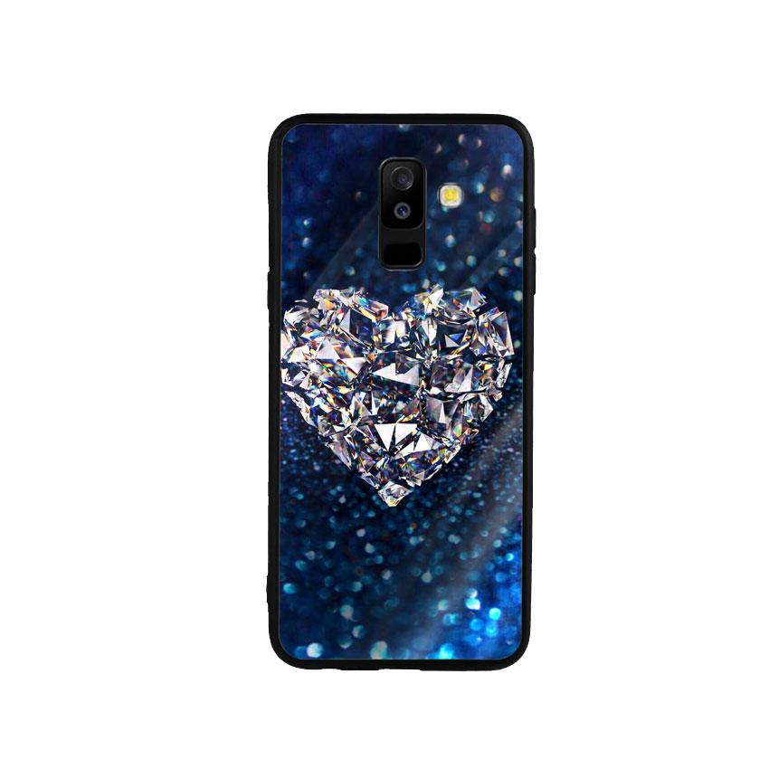 Ốp Lưng Kính Cường Lực cho điện thoại Samsung Galaxy A6 Plus 2018 - Heart 11
