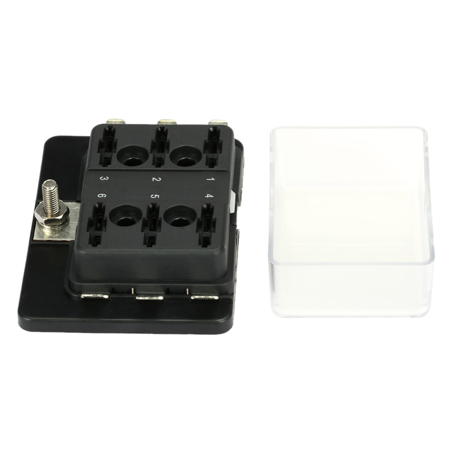 1 Power in 6 Way Blade Fuse Box Holder for Car Boat Marine 12V 24V - 2019399 , 5473626172461 , 62_15218199 , 312000 , 1-Power-in-6-Way-Blade-Fuse-Box-Holder-for-Car-Boat-Marine-12V-24V-62_15218199 , tiki.vn , 1 Power in 6 Way Blade Fuse Box Holder for Car Boat Marine 12V 24V