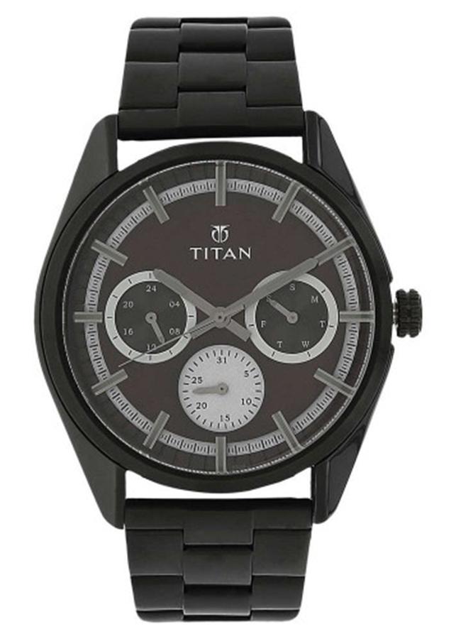 Đồng Hồ Nam Dây Kim Loại Titan 90084NM01 - Mặt Nâu