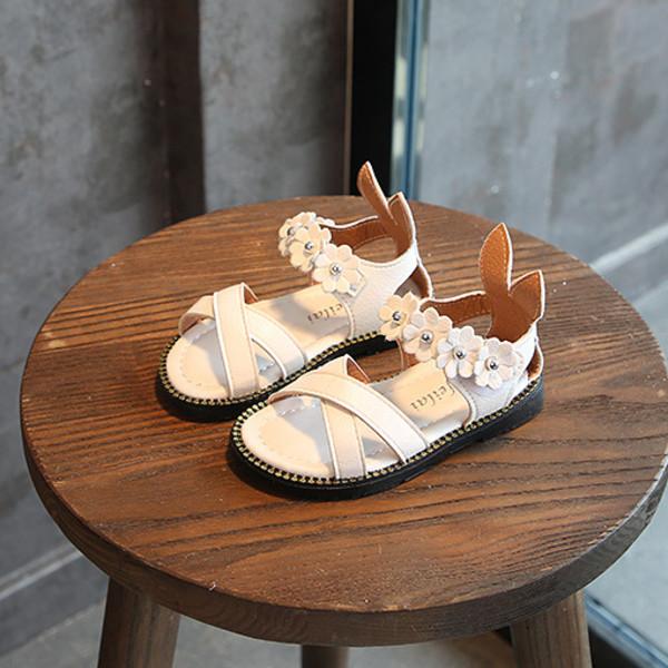Giày sandal cho bé gái 1 – 3 tuổi quai chéo gót tai thỏ – S13