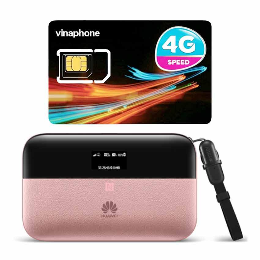 Bộ phát wifi Huawei E5885 4G LTE 300Mbps + Sim 4G Viaphone trọn Gói 12 Tháng   5.5GB/Tháng