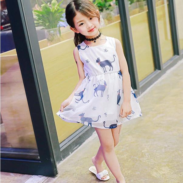 Đầm bé gái hình mèo -TTMS519