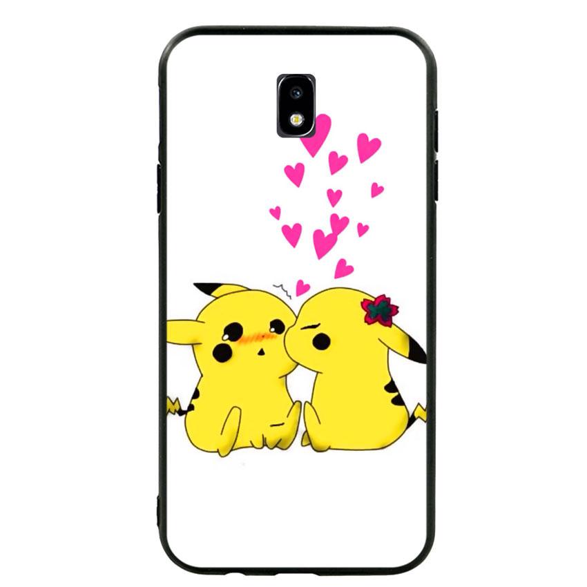 Ốp lưng viền TPU cho điện thoại Samsung Galaxy J7 Pro - Pikachu 02