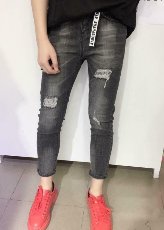 Quần Jean Nam đen tối màu rách ống skinny VNXK Jeans 340 - 2156165 , 5582705723057 , 62_13776310 , 320000 , Quan-Jean-Nam-den-toi-mau-rach-ong-skinny-VNXK-Jeans-340-62_13776310 , tiki.vn , Quần Jean Nam đen tối màu rách ống skinny VNXK Jeans 340