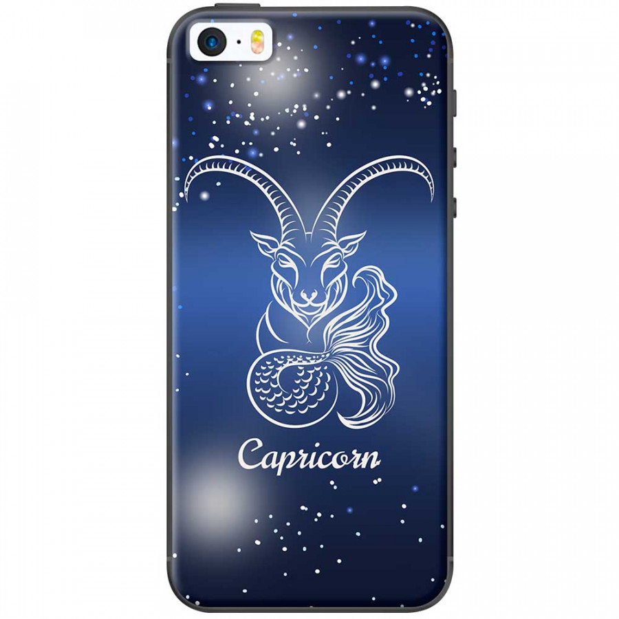Ốp lưng  dành cho iPhone 5, iPhone 5s mẫu Cung hoàng đạo Capricorn (xanh)
