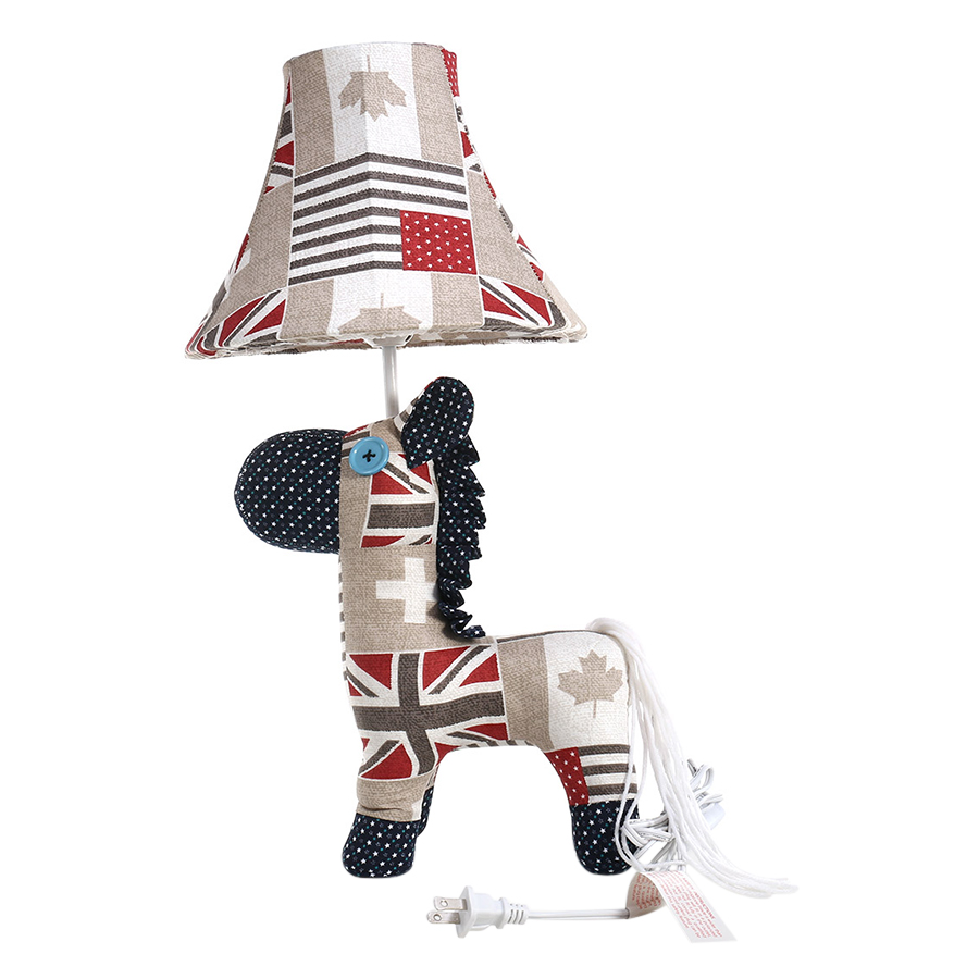 Table Lamp EU Plug Horse Sculpture Lamp Decorative Animal Lamp Adjustable Lamp Shade Multicolored Modern Cute Adjustable