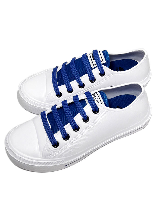 Giày nữ chất liệu xốp thời trang T164K235 - Trắng Xanh
