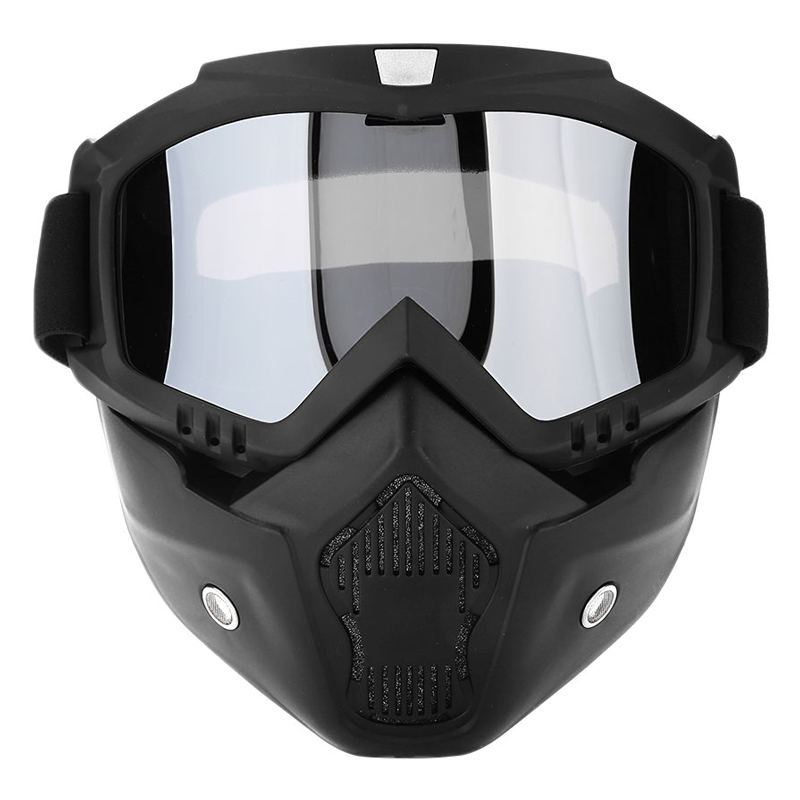 Sale Modular Mask Detachable Goggles And Mouth Filter Open Face Motorcycle
