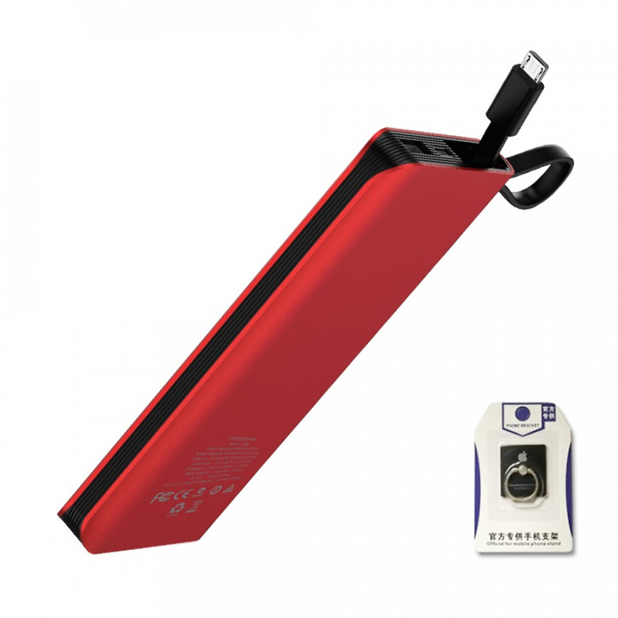 Pin sạc dự phòng 10000 mAh Hoco J25A tích hợp cáp sạc Micro USB - Tặng Iring - 2143597 , 4051014705869 , 62_13666474 , 505000 , Pin-sac-du-phong-10000-mAh-Hoco-J25A-tich-hop-cap-sac-Micro-USB-Tang-Iring-62_13666474 , tiki.vn , Pin sạc dự phòng 10000 mAh Hoco J25A tích hợp cáp sạc Micro USB - Tặng Iring
