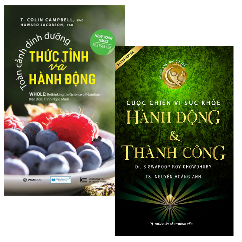 Combo Toàn cảnh dinh dưỡng thức tỉnh và hành động + Cuộc chiến vì sức khỏe hành động và thành công - 1836417 , 2873929910419 , 62_13764961 , 470000 , Combo-Toan-canh-dinh-duong-thuc-tinh-va-hanh-dong-Cuoc-chien-vi-suc-khoe-hanh-dong-va-thanh-cong-62_13764961 , tiki.vn , Combo Toàn cảnh dinh dưỡng thức tỉnh và hành động + Cuộc chiến vì sức khỏe hành động