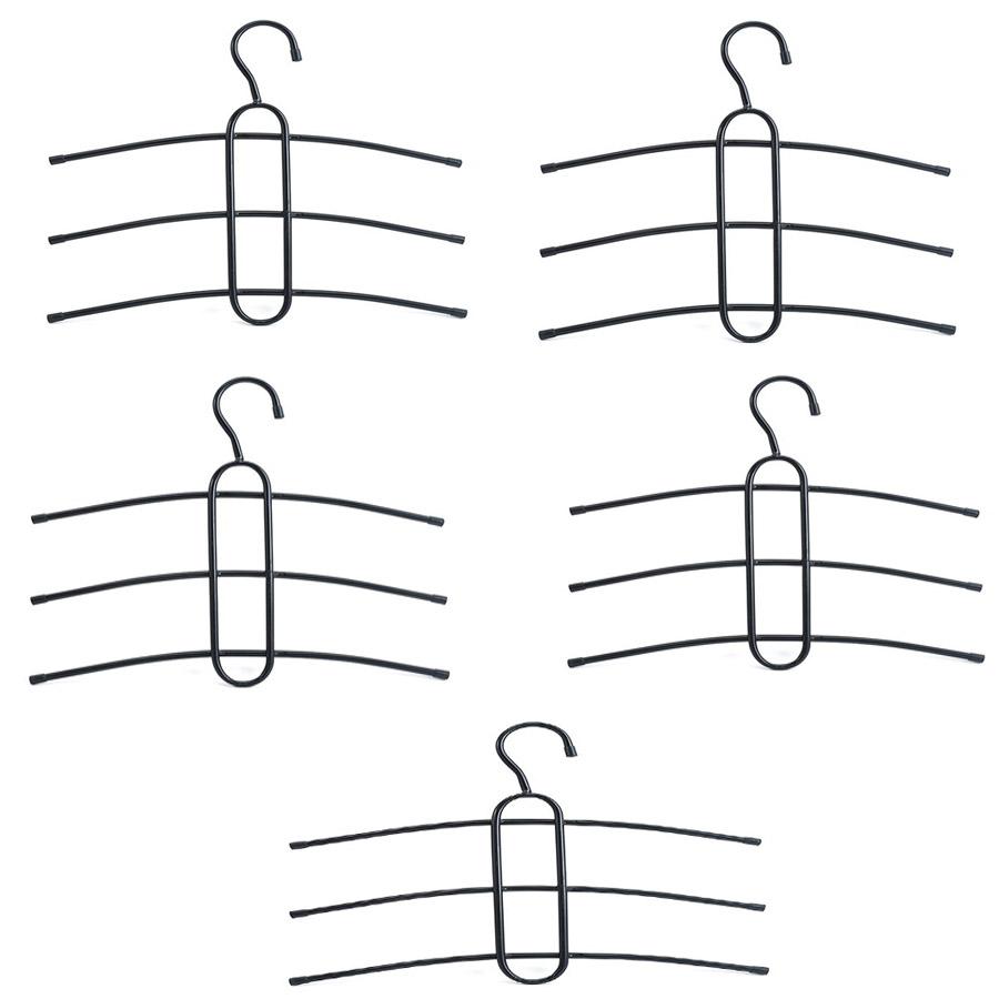 Combo 5  móc treo quần áo 3 tầng tiện dụng