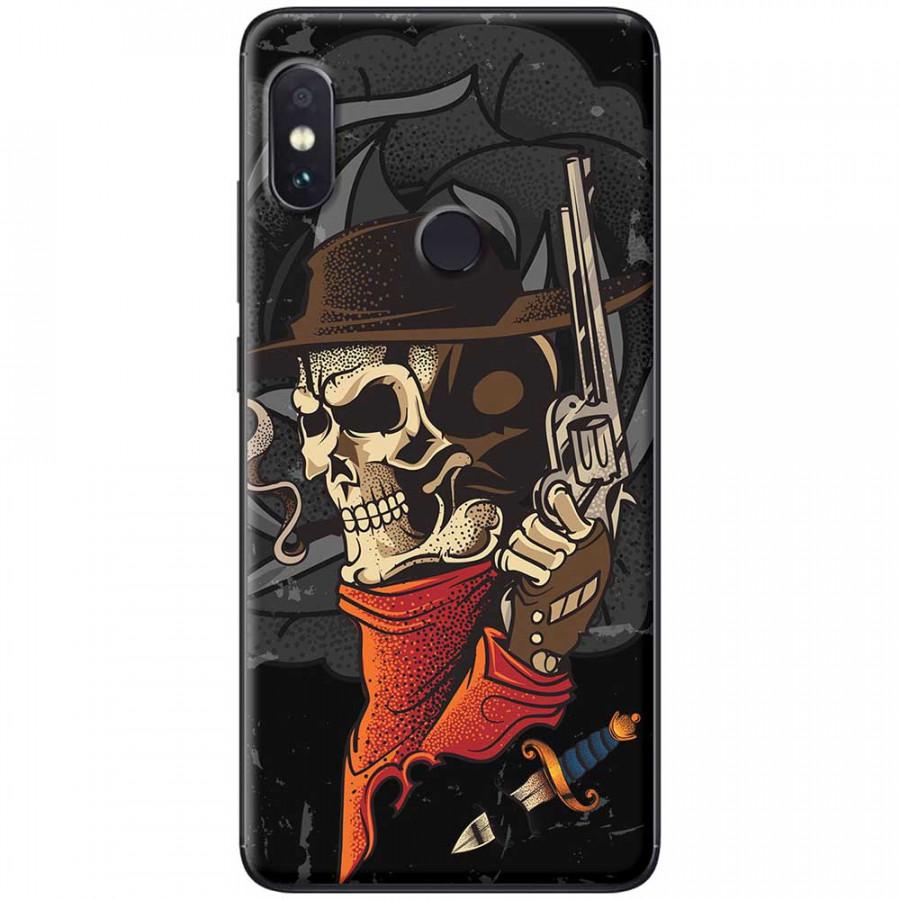 Ốp lưng dành cho Xiaomi Redmi Note 5 mẫu Đầu lâu súng
