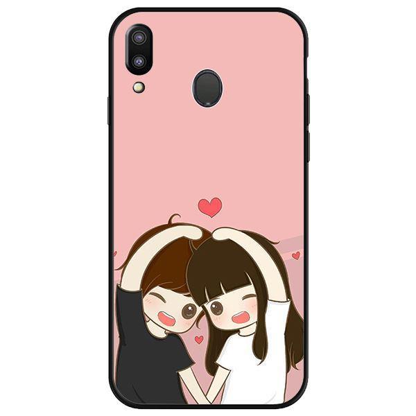 Ốp lưng dành cho điện thoại Samsung Galaxy M20 - Anime Couple Nháy Mắt