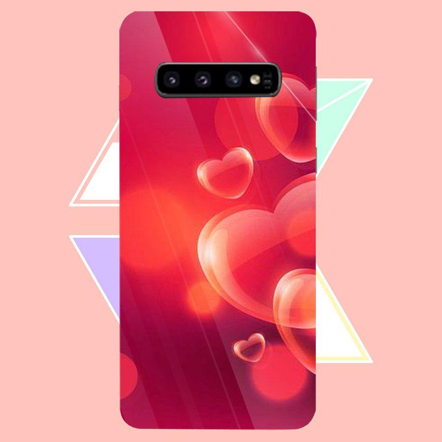 Ốp kính cường lực cho điện thoại Samsung Galaxy S10 - trái tim tình yêu MS LOVE030 - Hàng Chính Hãng
