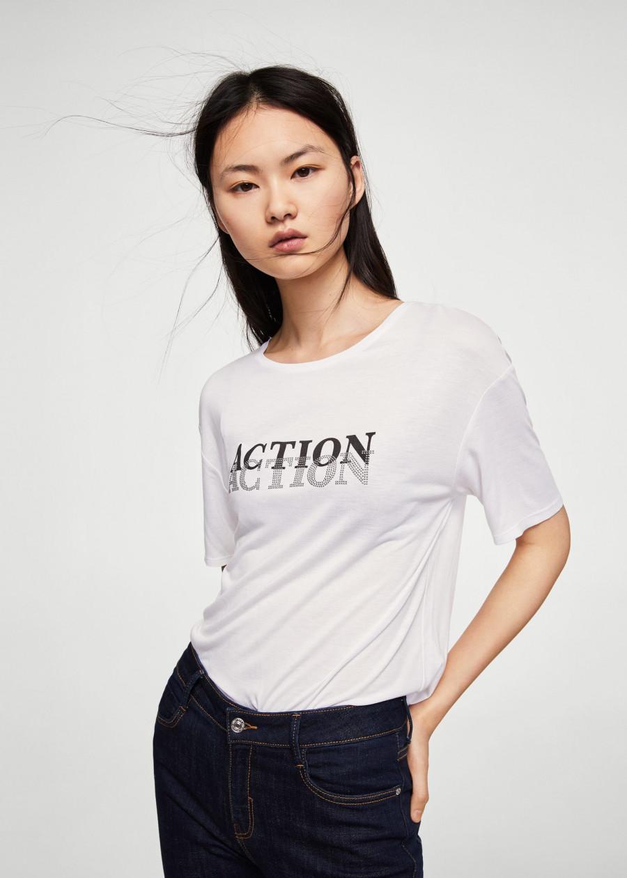 Áo Thun Nữ T-shirt Action Mango 23003685 - Mã Màu 1