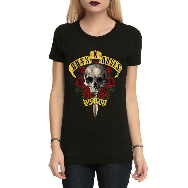 Áo T-shirt Trẻ Em Guns N Roses Dotilo HT111 - Đen