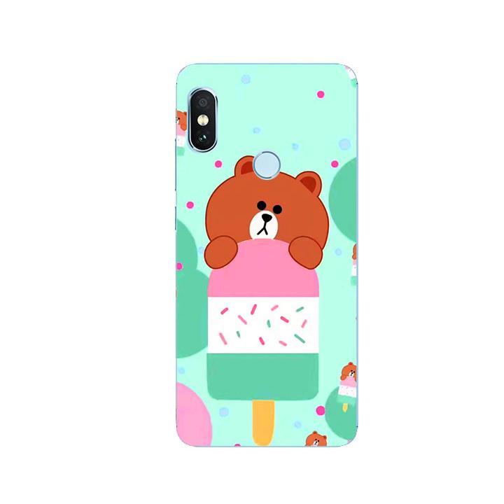 Ốp Lưng Dẻo Cho Điện thoại Xiaomi Redmi Note 5 - Gấu Brown 04