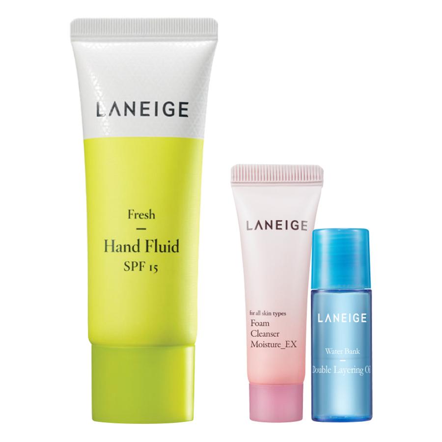 Kem Dưỡng Da Tay Dạng Lỏng Có Chỉ Số Chống Nắng Laneige Fresh Hand Fluid SPF15 (40ml) - Tặng Sữa Rửa Mặt (15ml) Và...