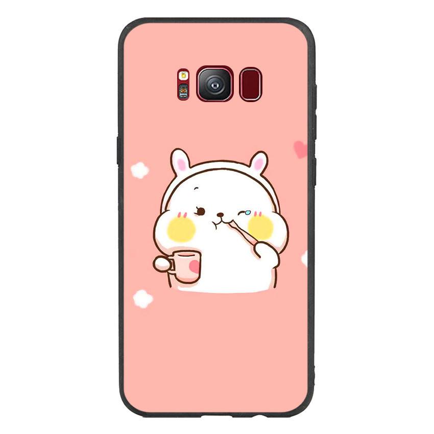Ốp lưng viền TPU cho điện thoại Samsung Galaxy S8 - Cute 06