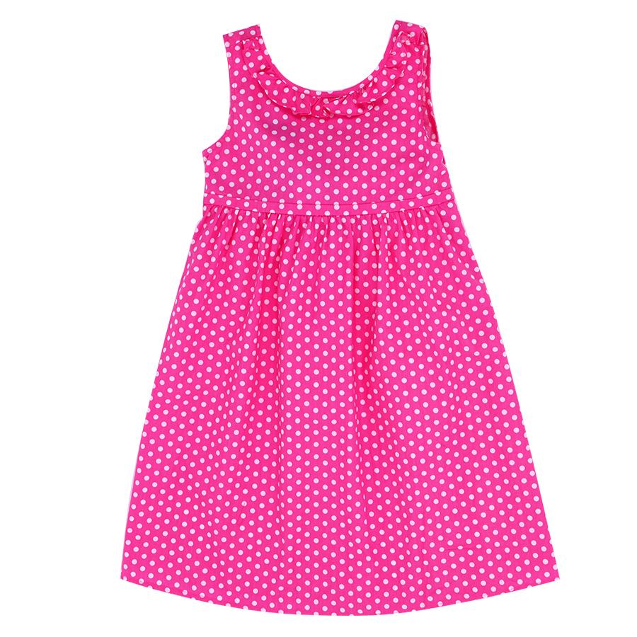 Đầm Bi Hồng Cài Nơ Genii Kids - Hồng