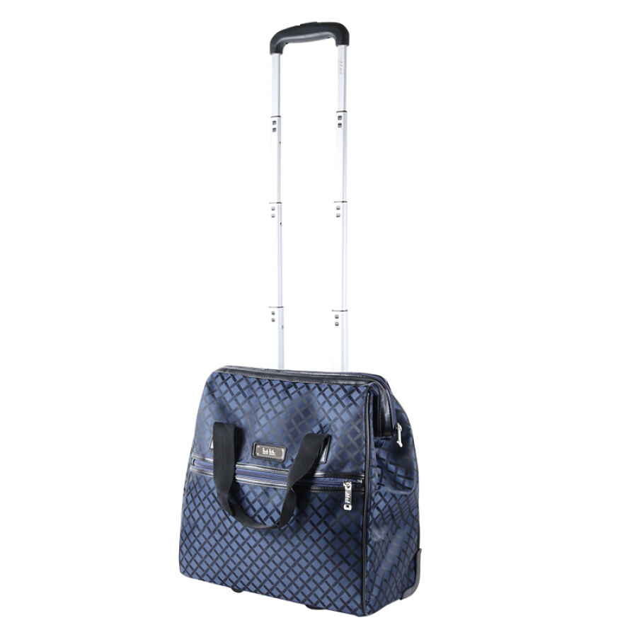 American Nicole Miller suitcase men and women travel business fashion casual trolley case boarding 16 inch navy blue N4697-47-WCT