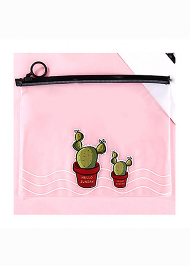 Túi đựng vật dụng nhỏ gọn hình hai cây xương rồng