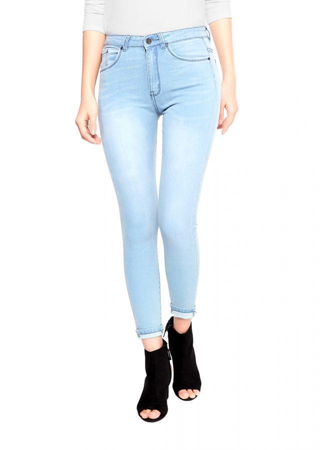 Quần jean nữ AAA JEANS dáng skinny dài trơn lưng cao xanh sáng - 1987913 , 6346910583412 , 62_3450001 , 429000 , Quan-jean-nu-AAA-JEANS-dang-skinny-dai-tron-lung-cao-xanh-sang-62_3450001 , tiki.vn , Quần jean nữ AAA JEANS dáng skinny dài trơn lưng cao xanh sáng