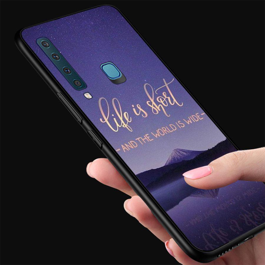 Ốp kính cường lực dành cho điện thoại Samsung Galaxy A9 2018/A9 Pro - M20 - lời trích truyền cảm hứng - quotes -...