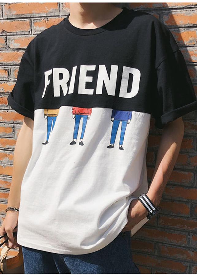 Áo thun Nam Tay lỡ Friend tình bạn 2019 KOREA - Màu đen - 2344181 , 2977288062601 , 62_15252719 , 149000 , Ao-thun-Nam-Tay-lo-Friend-tinh-ban-2019-KOREA-Mau-den-62_15252719 , tiki.vn , Áo thun Nam Tay lỡ Friend tình bạn 2019 KOREA - Màu đen