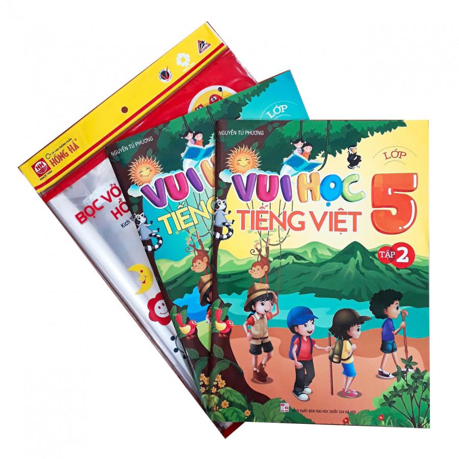 Combo Vui học Tiếng Việt lớp 5 + tập bọc nilon sách vở