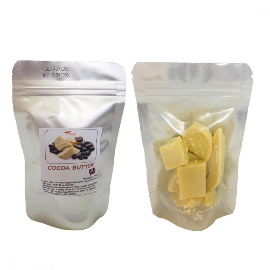 Bơ ca cao nguyên chất làm bánh( Cocoa Butter) Figo 100gram