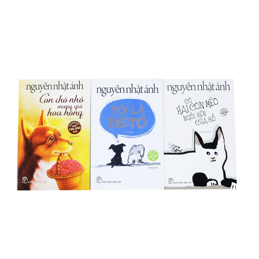 Combo Nguyễn Nhật Ánh chọn lọc: Tôi là Bêtô - Con chó nhỏ mang giỏ hoa hồng - Có hai con mèo bên cửa sổ - 1595917 , 4352676125591 , 62_10693500 , 260000 , Combo-Nguyen-Nhat-Anh-chon-loc-Toi-la-Beto-Con-cho-nho-mang-gio-hoa-hong-Co-hai-con-meo-ben-cua-so-62_10693500 , tiki.vn , Combo Nguyễn Nhật Ánh chọn lọc: Tôi là Bêtô - Con chó nhỏ mang giỏ hoa hồng -