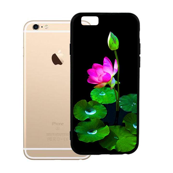 Ốp lưng viền TPU cho Iphone 6 Plus - Lotus 02