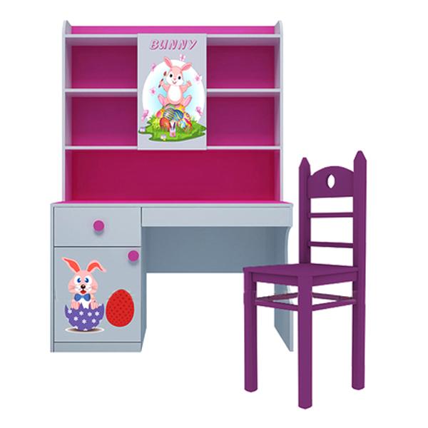 Bộ Bàn Học Có Giá Sách Hình Bunny IBIE CSBUNM12 (1m2)
