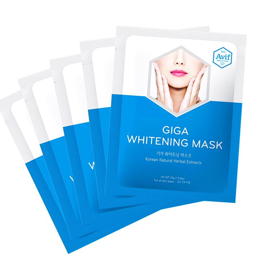 Combo 5 mặt nạ Avif dưỡng da giảm lão hóa - Avif giga whitening mask 21g
