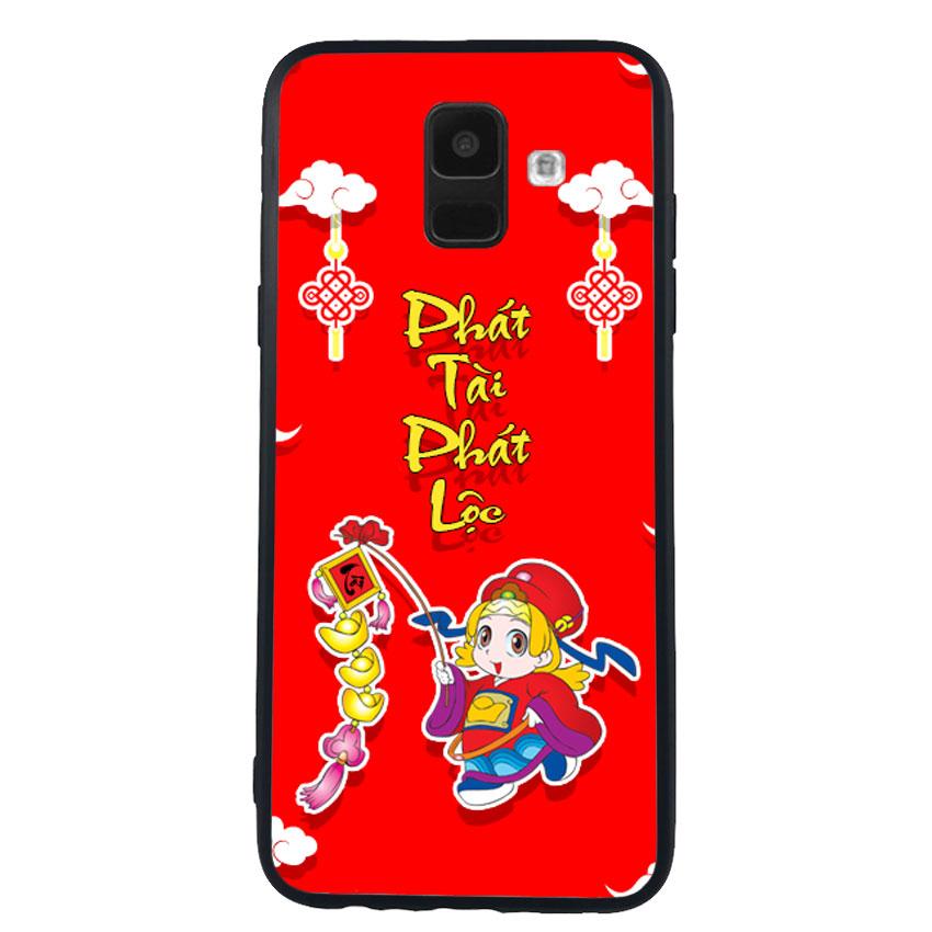 Ốp Lưng Viền TPU cho điện thoại Samsung Galaxy A6 -Thần Tài 03
