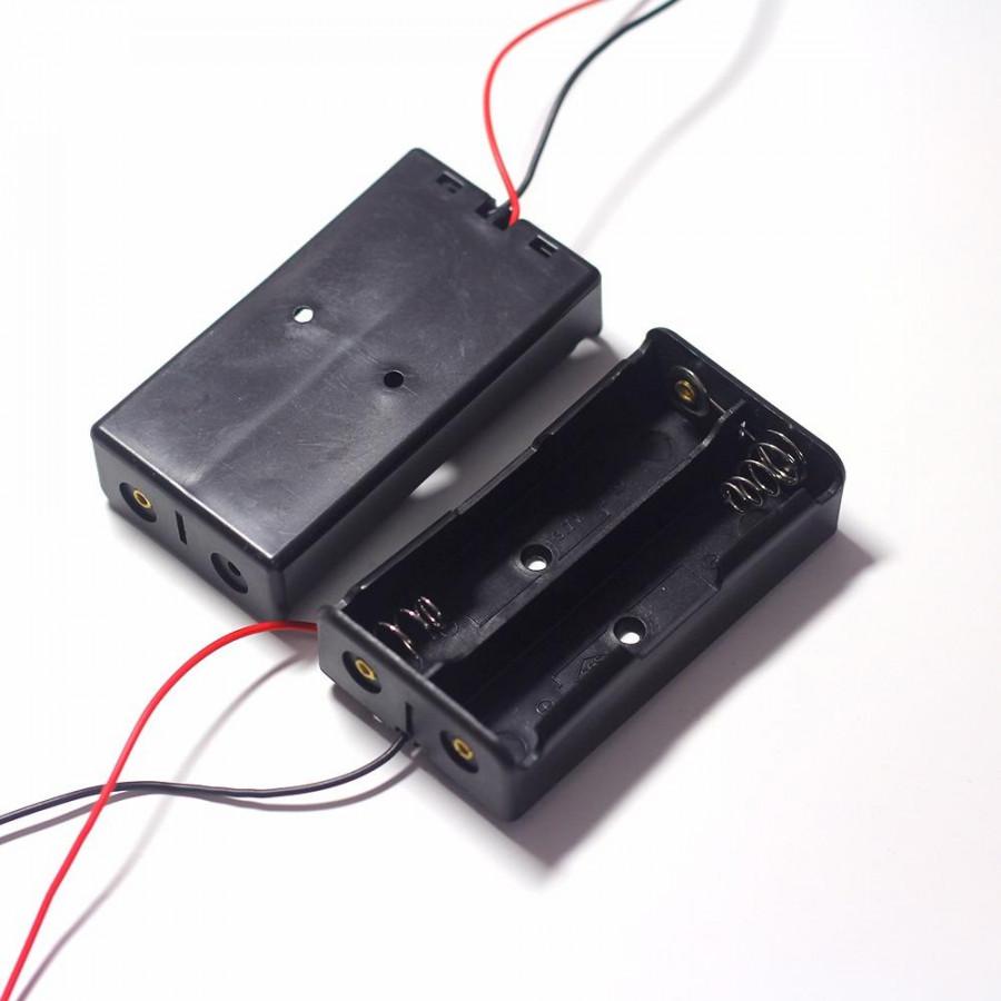 Bộ 2 Hộp Đế Đựng Pin 3,7V 18650 nối tiếp 2Pin