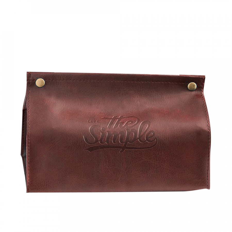 Tissue Bag Paper Napkin Holder Creative PU Leather Nordic Style Bathroom Storage Bag