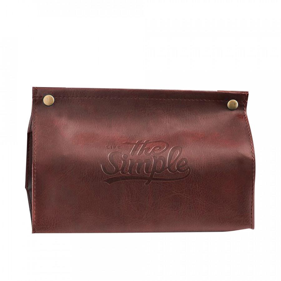 Tissue Box Tissue Bag Creative Nordic Style PU Leather Tissue Box Covers Desktop