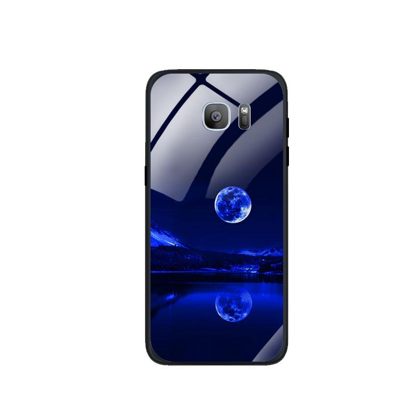 Ốp Lưng Kính Cường Lực cho điện thoại Samsung Galaxy S7 Edge - 0269 MOON02