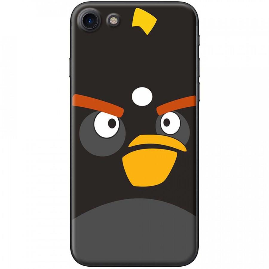 Ốp lưng dành cho iPhone 7 mẫu Mặt Angry bird đen