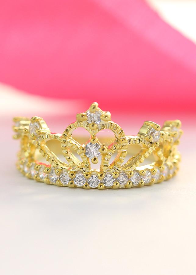 Nhẫn bạc nữ đẹp hình vương miện đính đá xi vàng NN0221 - 7638058 , 4971097627974 , 62_12753876 , 450000 , Nhan-bac-nu-dep-hinh-vuong-mien-dinh-da-xi-vang-NN0221-62_12753876 , tiki.vn , Nhẫn bạc nữ đẹp hình vương miện đính đá xi vàng NN0221
