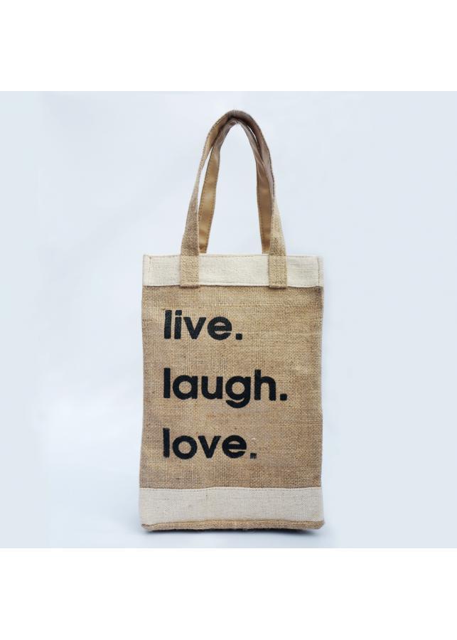 Túi vải đay Live-Laugh-Love