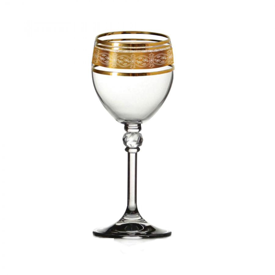 Bộ 6 ly rượu mạnh mạ vàng 24k Tiệp Khắc