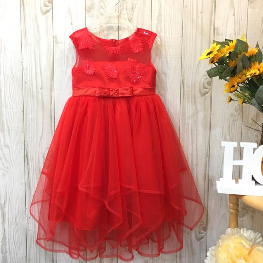 Đầm dự tiệc màu đỏ ánh lông công mã hq636