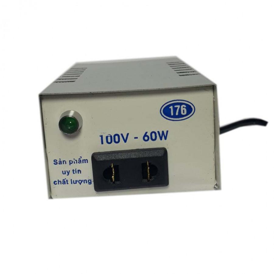 Biến thế đổi điện 220V - 100V công suất 60W, lõi đồng