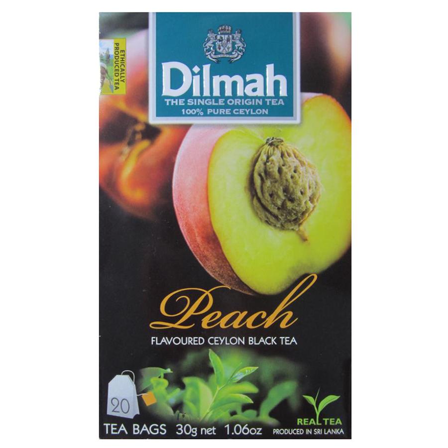 Trà Dilmah hương Đào hộp 20 gói x 1,5 g